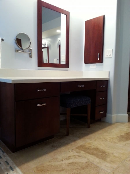 Home Renovation in Phoenix Bathroom with Custom Cabinets
